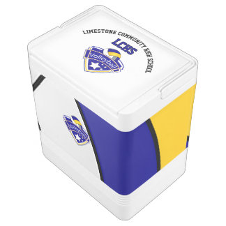 Volleyball Star | Yellow, White and Blue Igloo Cool Box