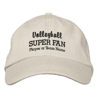 Volleyball Super Fan Custom Sport Team Player Name Baseball Cap