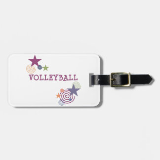 Volleyball Swirl Luggage Tag