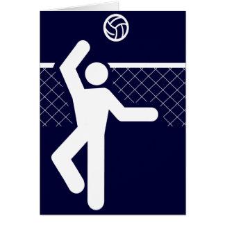 Volleyball Symbol Card