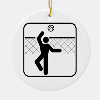 Volleyball Symbol Ornament