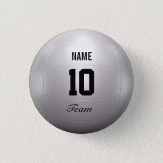 Volleyball Team 3 Cm Round Badge