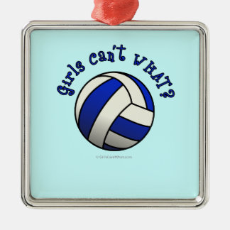 Volleyball Team Gifts - Blue Christmas Tree Ornament