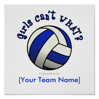 Volleyball Team Gifts - Blue Poster
