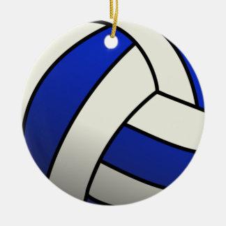 Volleyball Team Gifts - Blue Round Ceramic Decoration
