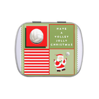 Volleyball team holiday gifts jelly belly tin