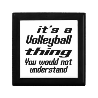 Volleyball Thing Designs Small Square Gift Box