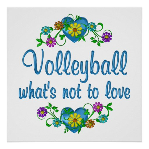 Volleyball to Love Print