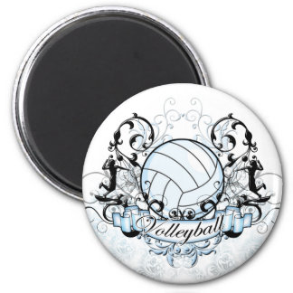 Volleyball Tribal 6 Cm Round Magnet