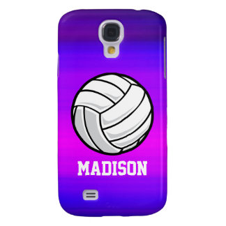 Volleyball; Vibrant Violet Blue and Magenta Galaxy S4 Case