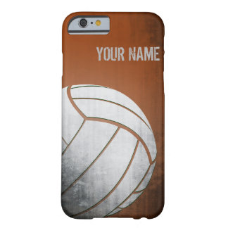 Volleyball with Grunge effect Orange Shade Barely There iPhone 6 Case