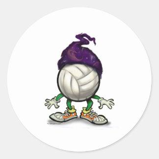 Volleyball Wizard Classic Round Sticker