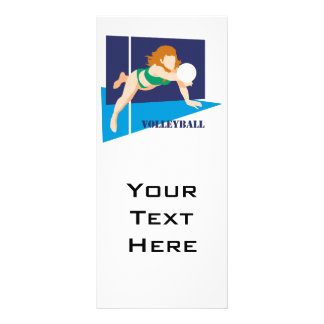 volleyball womens girls full color rack card