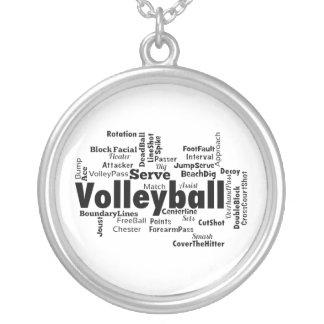 Volleyball Word Cloud Custom Jewelry