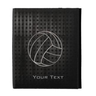 Volleyballl; Cool Black iPad Folio Case