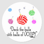 VolleyChick Deck the Halls Round Sticker