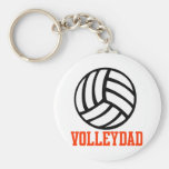 VolleyChick Family Intermural Basic Round Button Key Ring