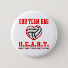 VolleyChick Heart 6 Cm Round Badge