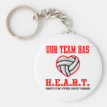 VolleyChick Heart Key Chains