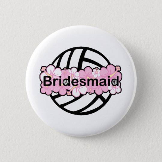 VolleyChick VolleyBride 6 Cm Round Badge
