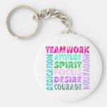 VolleyChick's Teamwork Basic Round Button Key Ring