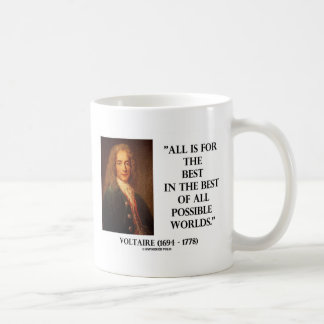 Voltaire All Is For The Best In The Best Of All Basic White Mug