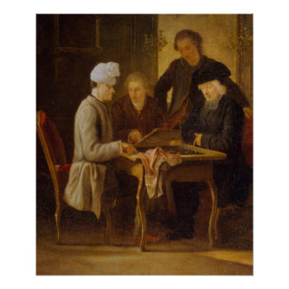 Voltaire at Chess Poster