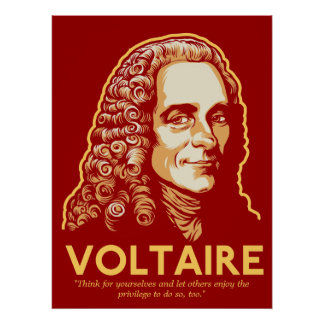 Voltaire Customizable Print