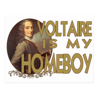 Voltaire Is My Homeboy Postcard