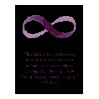 Voltaire Meditation Infinity Quote Postcard