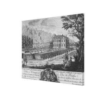 Voltaire's house in Ferney, west side Canvas Print