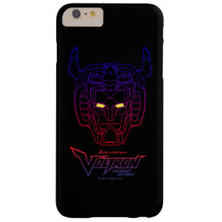 Voltron | Blue-Red Gradient Head Outline Barely There iPhone 6 Plus Case