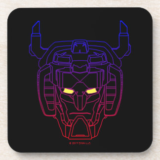 Voltron | Blue-Red Gradient Head Outline Coaster