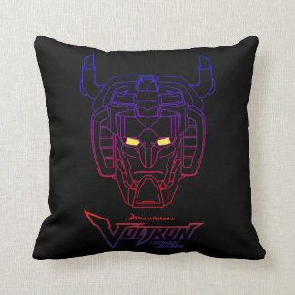 Voltron | Blue-Red Gradient Head Outline Cushion