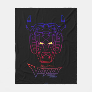Voltron | Blue-Red Gradient Head Outline Fleece Blanket
