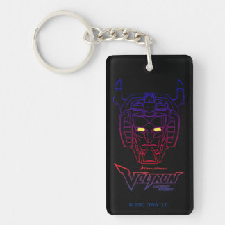 Voltron | Blue-Red Gradient Head Outline Key Ring