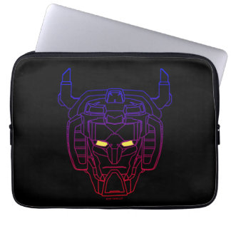 Voltron | Blue-Red Gradient Head Outline Laptop Sleeve