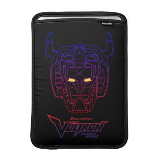 Voltron | Blue-Red Gradient Head Outline MacBook Sleeve
