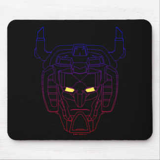 Voltron | Blue-Red Gradient Head Outline Mouse Mat