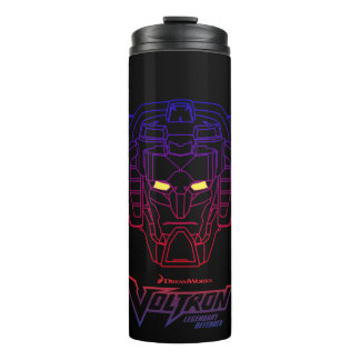 Voltron | Blue-Red Gradient Head Outline Thermal Tumbler