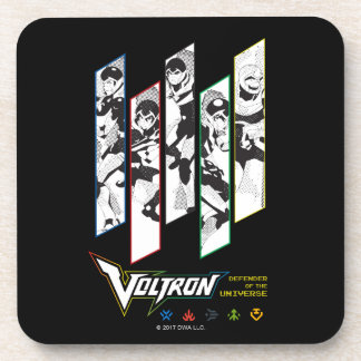 Voltron | Classic Pilots Halftone Panels Coaster