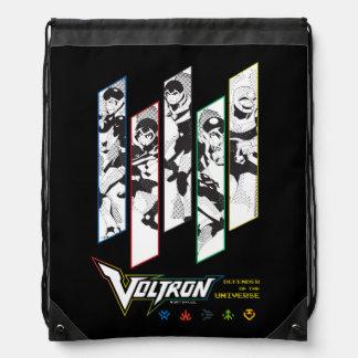 Voltron | Classic Pilots Halftone Panels Drawstring Bag