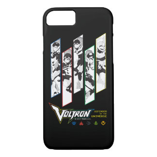 Voltron | Classic Pilots Halftone Panels iPhone 7 Case
