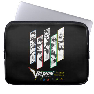 Voltron   Classic Pilots Halftone Panels Laptop Sleeve