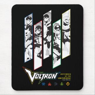 Voltron | Classic Pilots Halftone Panels Mouse Mat