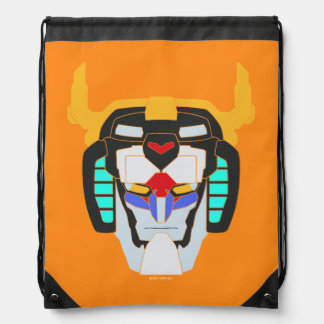 Voltron | Colored Voltron Head Graphic Drawstring Bag