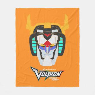 Voltron | Colored Voltron Head Graphic Fleece Blanket