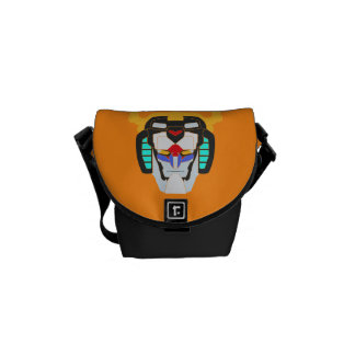 Voltron | Colored Voltron Head Graphic Messenger Bag