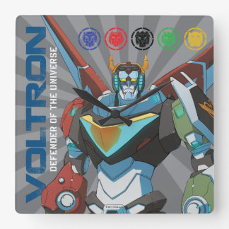 Voltron   Defender of the Universe Square Wall Clock