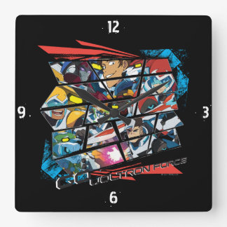Voltron | Go Voltron Force Square Wall Clock